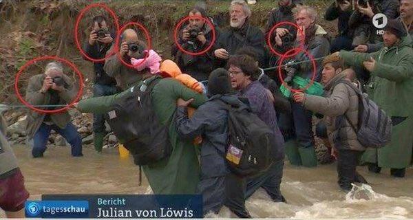 Bild des Tages - Drama im Fluss unter Monitoring