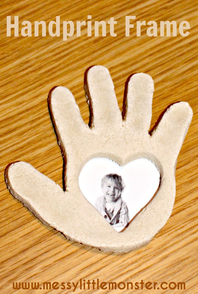 Simple instructions on how to make a salt dough handprint frame.  Valentines day craft for kids.  Mothers day gift.  Suitable for babies, toddlers, preschoolers, eyfs.