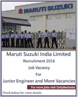 Maruti Suzuki Job Recruitment