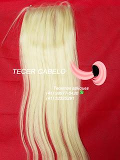 Próteses capilar de cabelo loiro