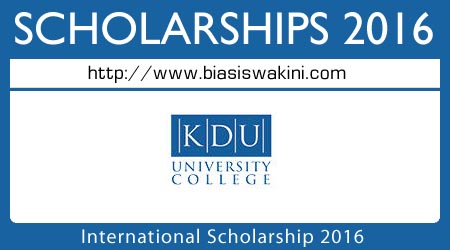 International Scholarship 2016