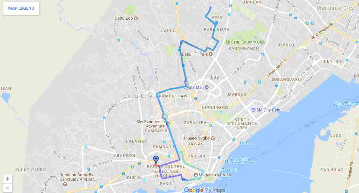 Ride a Jeepney in Cebu and its Travel Routes Code 17d Destination Lahug  Carbon Apas Taboan Map Best of Philippines 2018