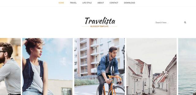 Travelista Responsive Blogger Templates
