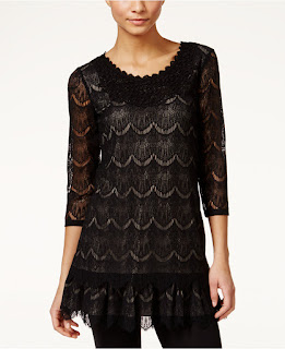 Style & Co Eyelet Lace Tunic $25 (reg $60)