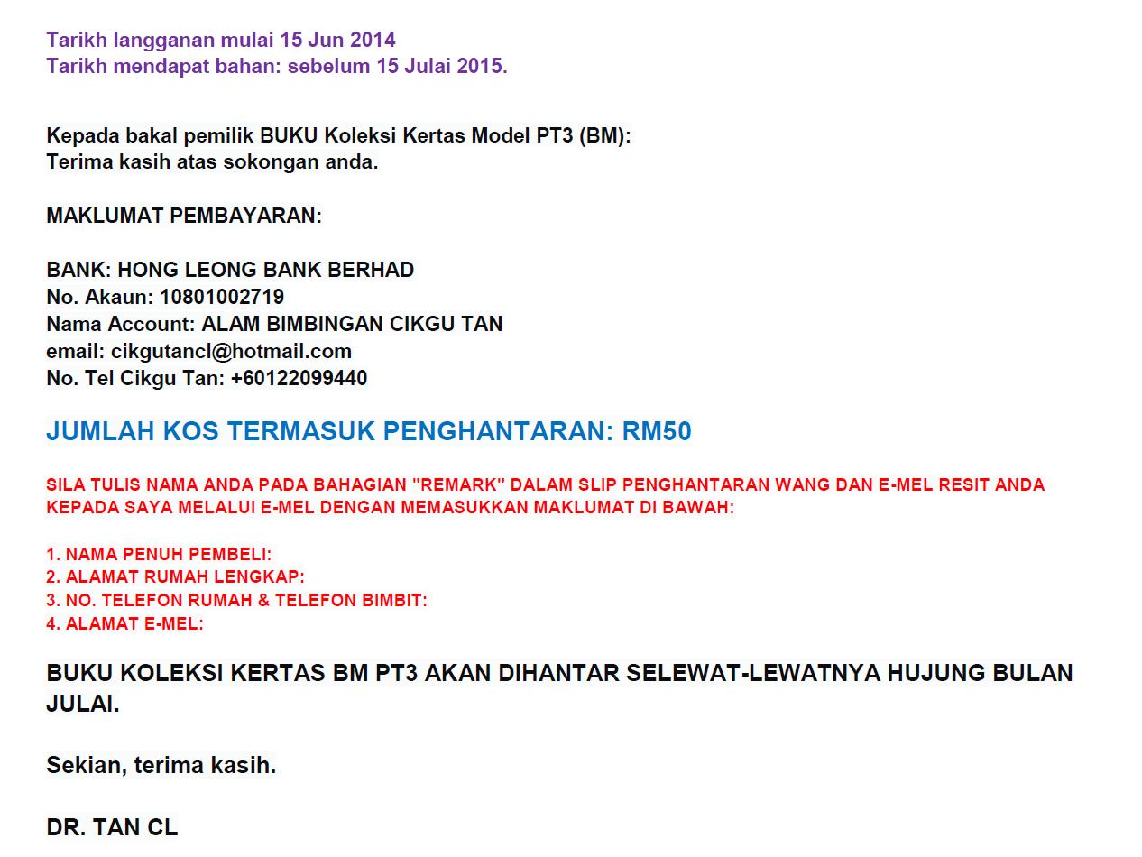 Soalan Ramalan Pt3 2019 Bahasa Melayu Selangor K