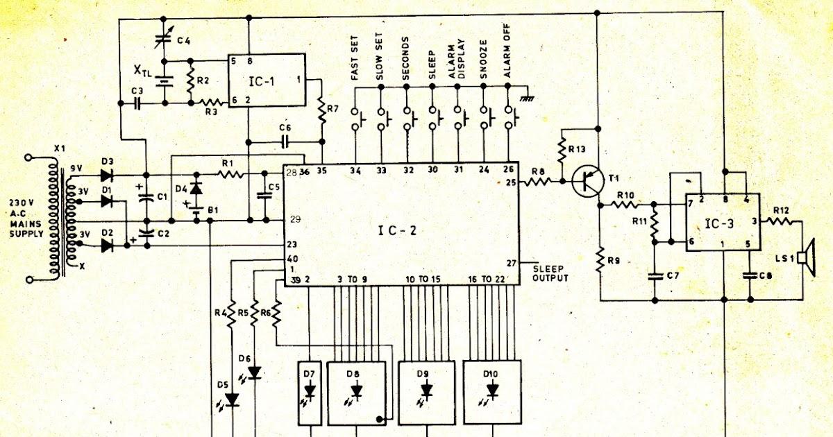 Circuit Wiring Solution: Digital Clock Circuit Diagram