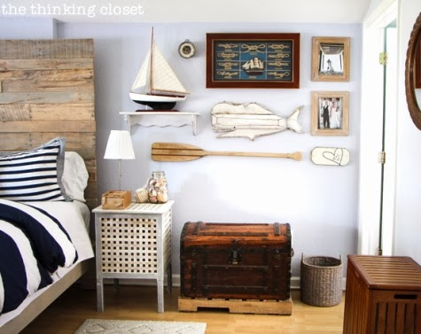nautical gallery wall