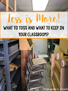 Less is more! Tidy up your classroom space with these 3 simple back to school steps.  Get rid of that junk in your storage space and other easy things teachers can do over the summer to help prepare for a new school year!
