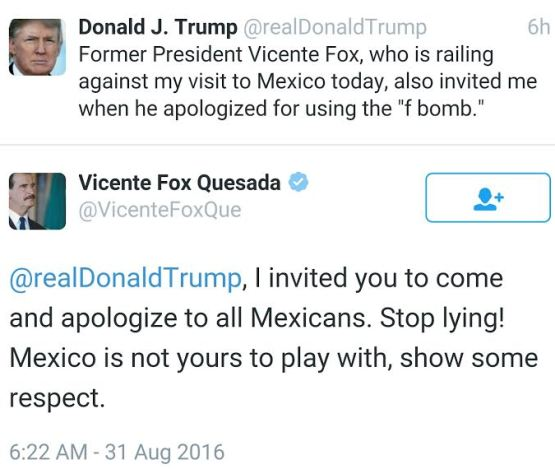 Former Mexican President Thrashed Donald Trump
