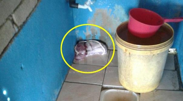 Jumpa mayat bayi merengkuk dalam tandas