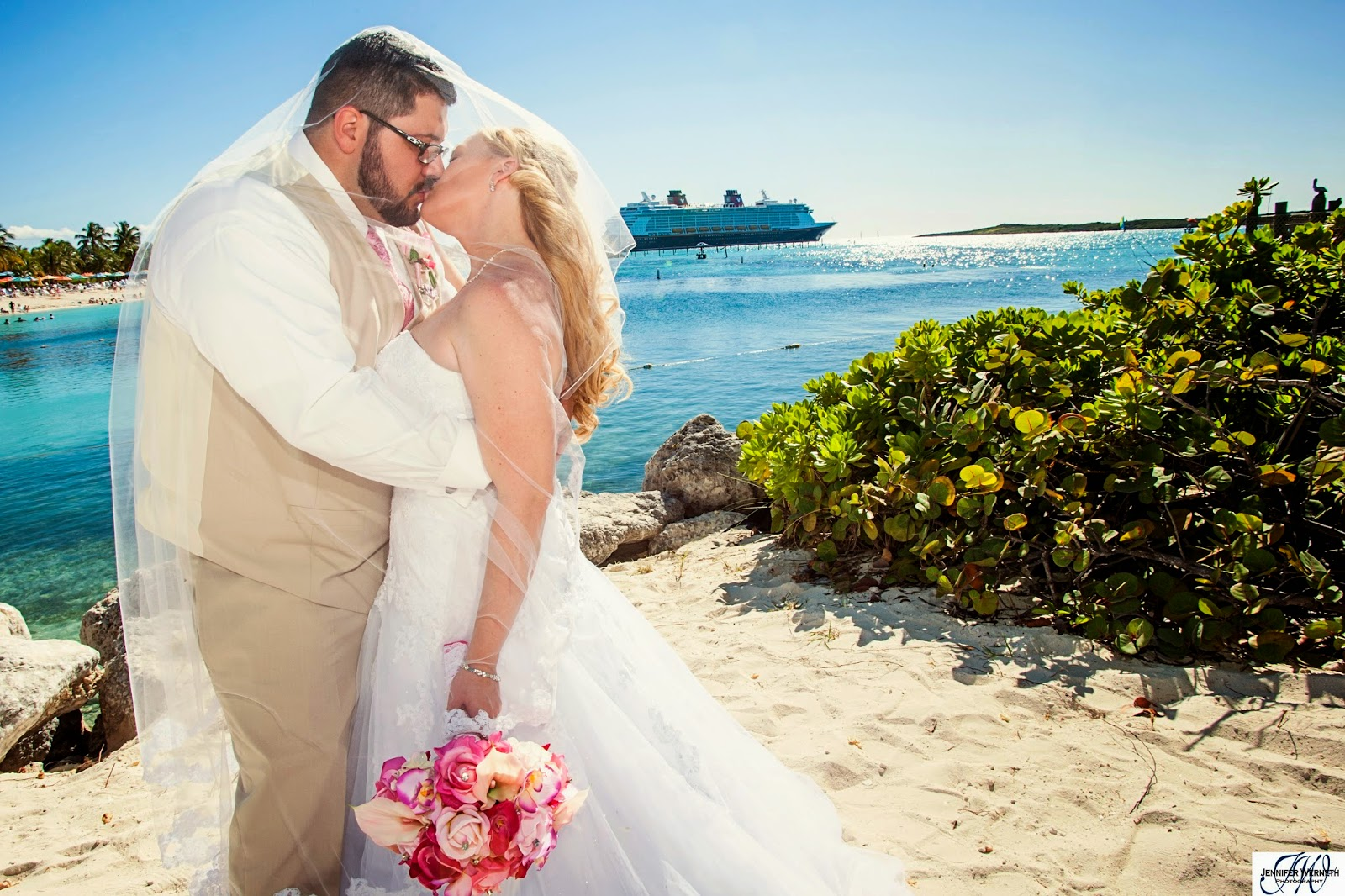 Matthew And Laura Disney Dream Cruise Wedding Photography Castaway Cay Bahamas Nau