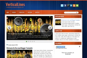 VerticalLines Blogger Template