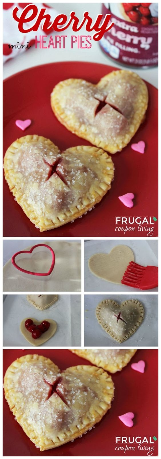 VALENTINE'S DAY MINI CHERRY HEART PIES #VALENTINE #DESSERT #SNACK