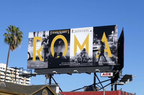Roma Golden Globes nominee billboard