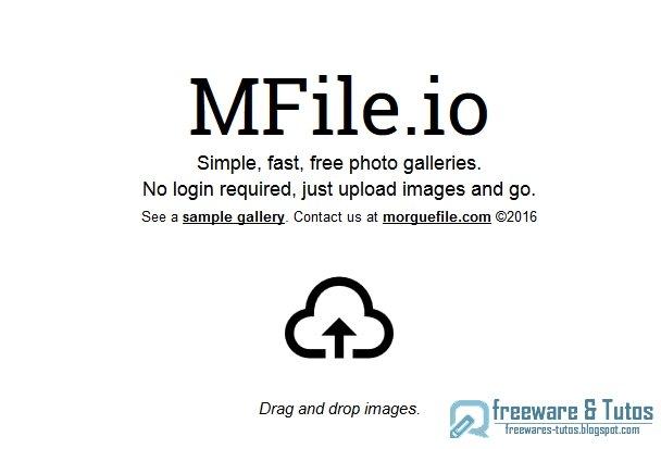 MFile: un service en ligne pour créer facilement des galeries d'images