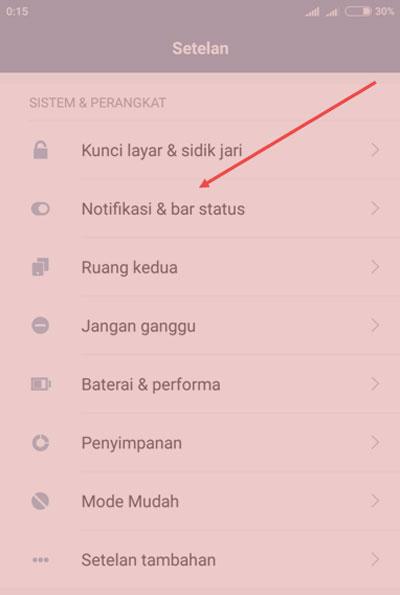 Cara Mengatur Posisi Tombol Notifikasi Semua Jenis HP Xiaomi