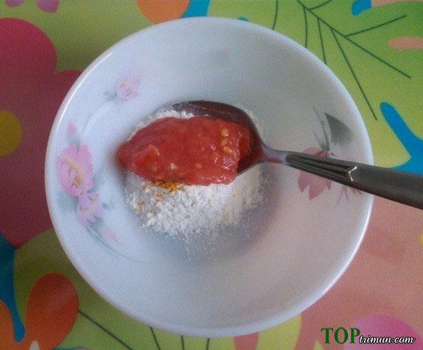 Trị mụn bằng Bột Gạo và Cà Chua siêu hay bạn thử chưa?