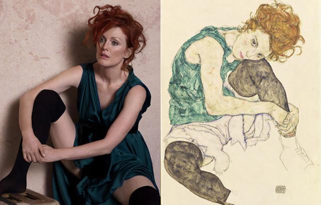 Mulher sentada com joelho dobrado - Egon Schiele