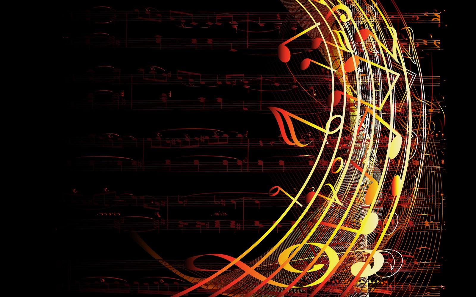 Abstract Music Notes Art: Muziek Achtergronden