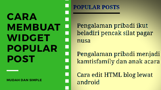 cara membuat widget popular post di blogger