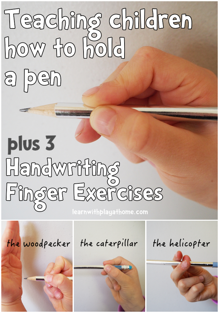 learn with play at home finger exercises for kids learning handwriting and how to hold a pen. Black Bedroom Furniture Sets. Home Design Ideas