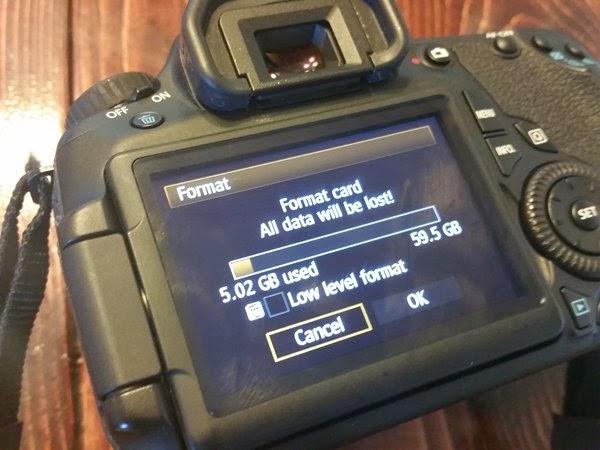مسح الصور من بطاقة الذاكرة عبر عملية الفورمات