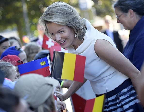 Queen Mathilde of Belgium, Hereditary Princess of Liechtenstein, Sophie, German Daniela Schadt, life partner of President Joachim Gauck and Swiss Katharina Schneider-Ammann