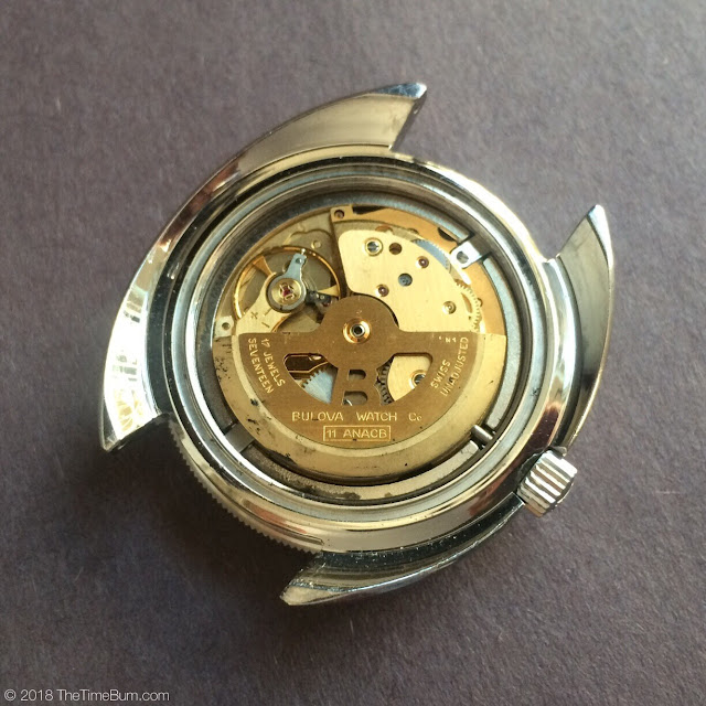Vintage 1971 Bulova Oceanographer Snorkel V 666ft Devil Diver movement