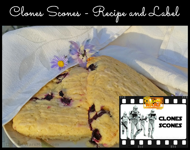 Star Wars Clones Scones Recipe and Printable Label