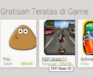 Free download official game PEPI Skate 3D .APK Full + DATA
