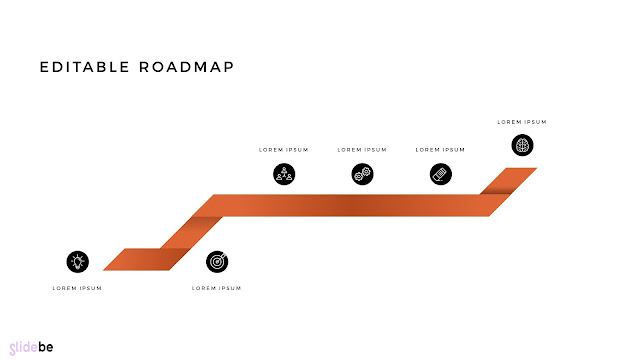 Editable Infographic Roadmap PowerPoint Template