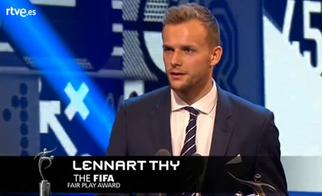 Lennart Thy - The Best FIFA Fair Play Award winner