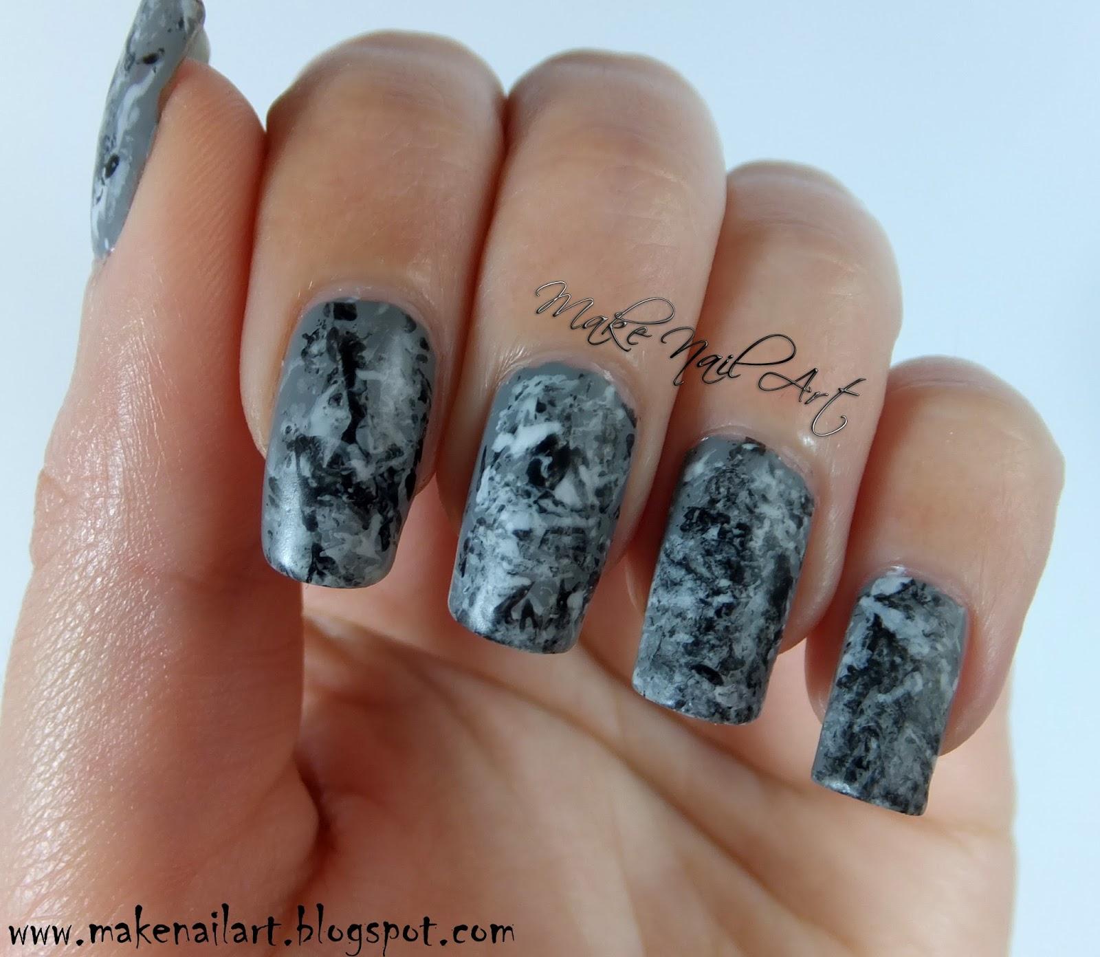 Make Nail Art: Stone Marble Nails Nail Art Tutorial