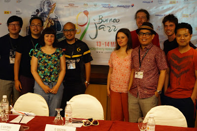 Press Conference hari pertama Borneo Jazz festival