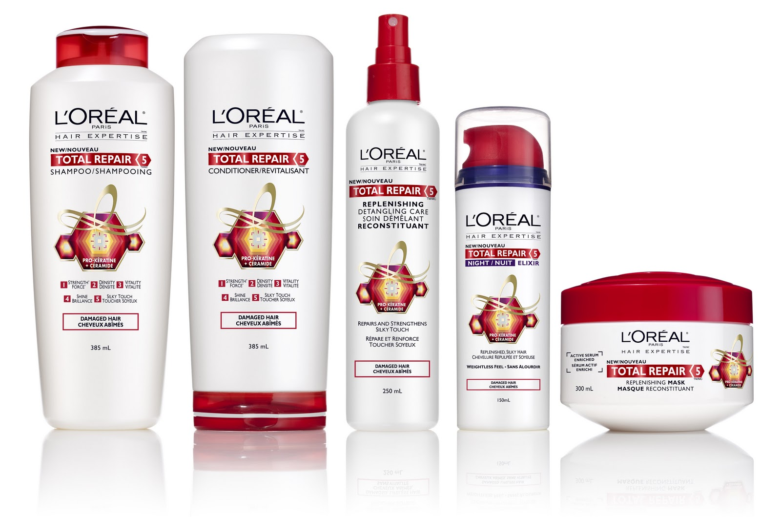 l oreal hair styling products vixen l oreal total repair 5 hair care collection 8023
