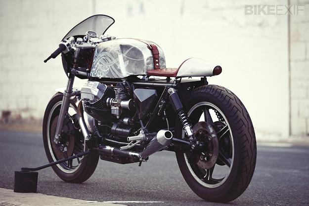 """Moto Guzzi độ Cafe Racer: """"Phượng hoàng bóng đêm"""""""