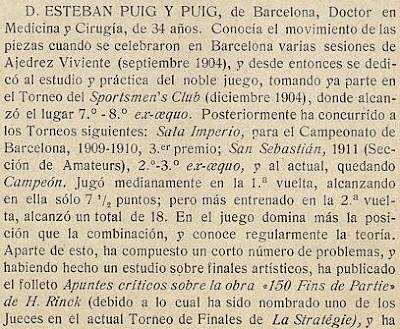 Notas sobre los participantes en el Torneo de Ajedrez para el Campeonato de Barcelona de 1913 (1)