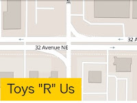 "Toys ""R"" Us Hours Locations - 2929 32nd Avenue NE  Calgary, 403-974-8680, T1Y 6J1"
