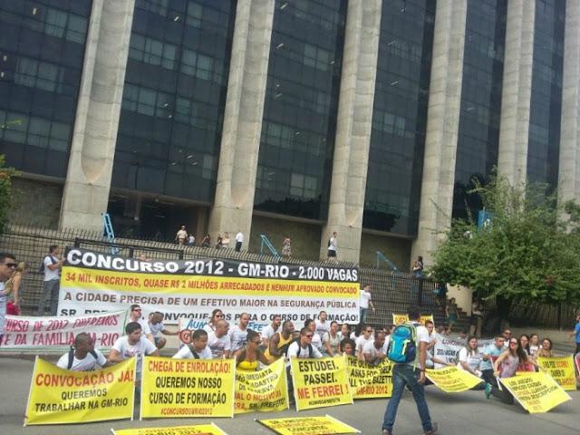 Protesto pede que Guarda Municipal do Rio de Janeiro (RJ) convoque candidatos