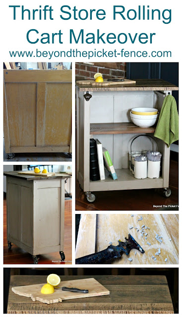 Thrift Store Rolling Cart Makeover