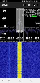 SDRoid interceptando frequências de rádio