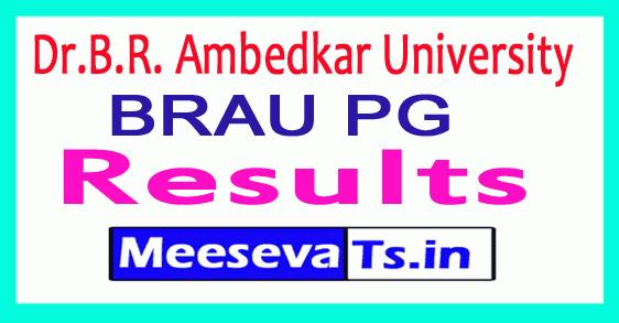 Dr.B.R. Ambedkar University PG Results