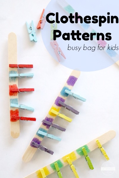 making patterns busy bag for kids