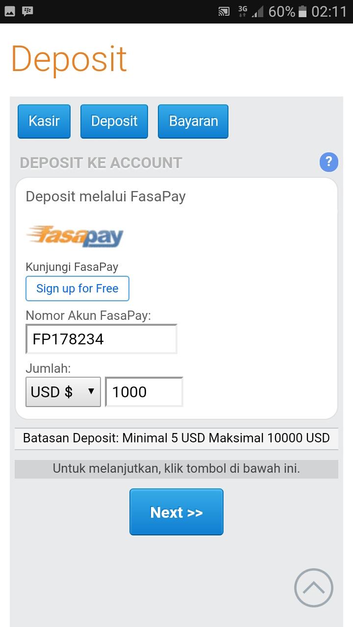 Binary option fasapay