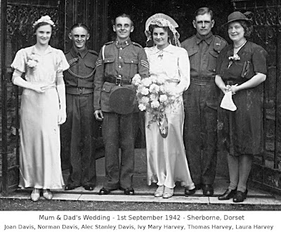 ack-ack wedding at Sherborne Abbey - 1942
