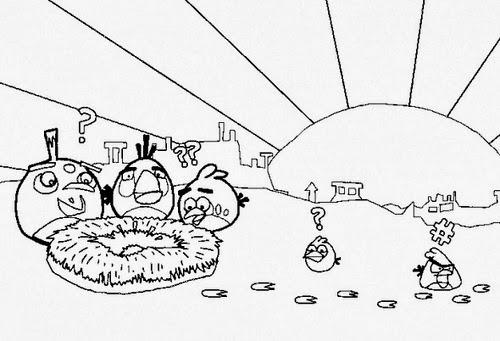 Desenho Angry Birds Menina Para Colorir: Desenhos Preto E Branco Para
