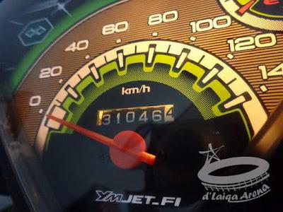 odometer saat penggantian oli mesin sebelumnya