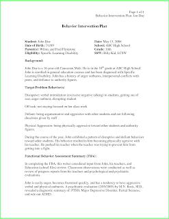 sample behavior intervention plan for aggression
