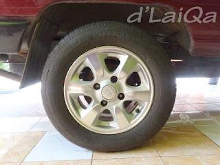 roda pengganti telah terpasang