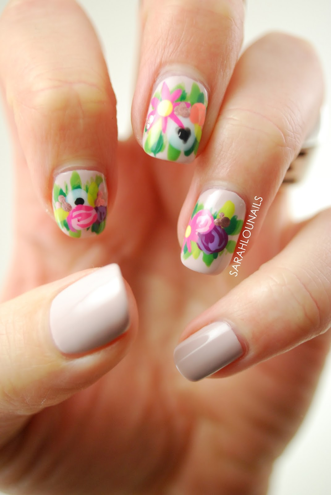 Nail Polish Flowers Crown Hession Hairdressing